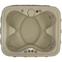 AR-400 4-Person Spa with 14 Jet in Stainless Steel, Easy Plug-N-Play and LED Waterfal