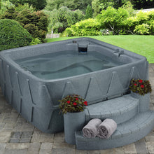 AR-500 5-Person Lounger Spa with 19 Jets in Stainless Steel and Easy Plug-N-Play and LED Waterfall