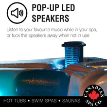 Quebec 3 Person Plug & Play 29-Jet Hot Tub with LED Lighting and Pop-up Speakers