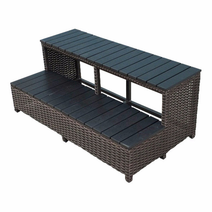 Wicker Spa Steps for 84 inch Spas