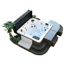 Corner Steps 2-Tier - Square Spa Surround Furniture