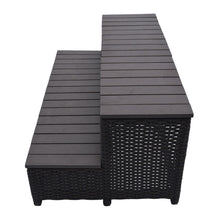 Wicker Spa Step for 90 inch Spas