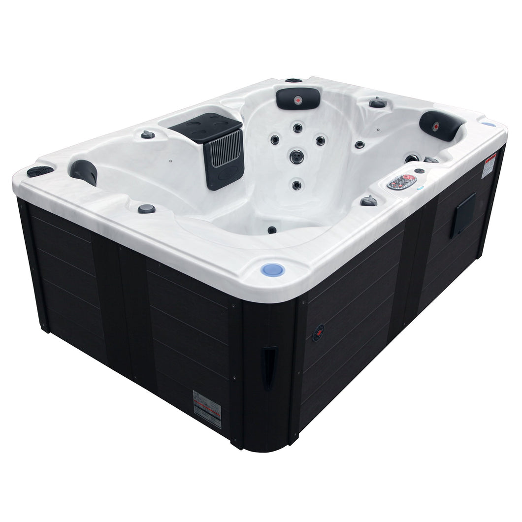 Canadian Spa Co Calgary Plug & Play 4-Person 24-Jet Hot Tub w Waterfall