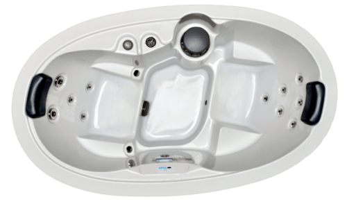 HB13 2-Person 13-Stainless Steel Jets Plug and Play Spa with Backlit Waterfall and Underwater LED Lights