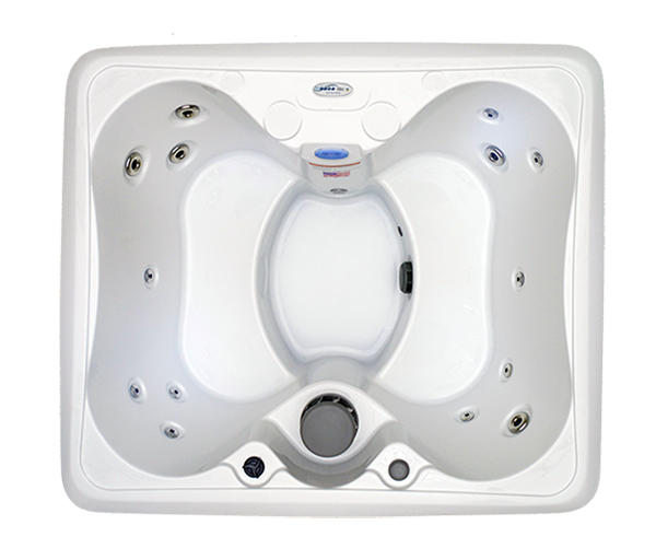 HB14 4-Person 14-Stainless Steel Jets Plug and Play Spa with Backlit Waterfall and Underwater LED Lights