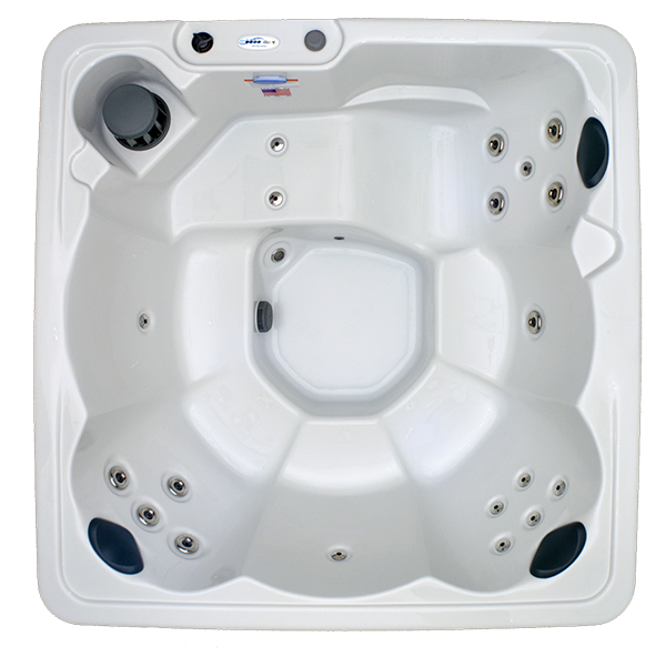 HB19 6-Person 19-Stainless Steel Jets Plug and Play Spa with Backlit Waterfall and Underwater LED Lights