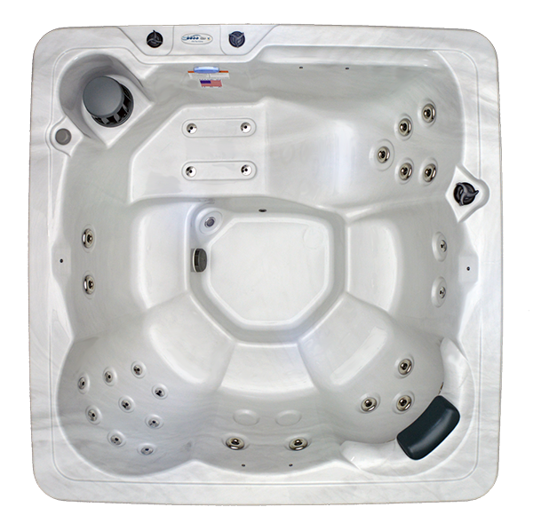 HB29 6-Person 29-Stainless Steel Jets Plug and Play Spa with Backlit Waterfall and Underwater LED Lights