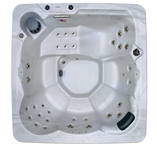HB34 6-Person 34-Stainless Steel Jets Plug and Play Spa with Ozonator, Backlit Waterfall and Underwater LED Lights