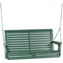 LuxCraft Porch Swing Green LuxCraft Rollback 4ft. Recycled Plastic Porch Swing 4PPSG