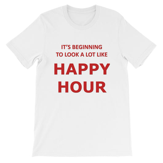 It's Beginning to look like Happy Hour Short-Sleeve Women's T-Shirt