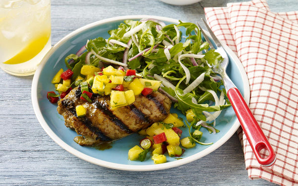 JERK CHICKEN PINEAPPLE AND MANGO SALAD