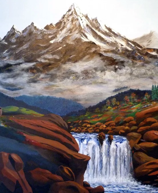 Top 35 Famous Acrylic Landscape Paintings