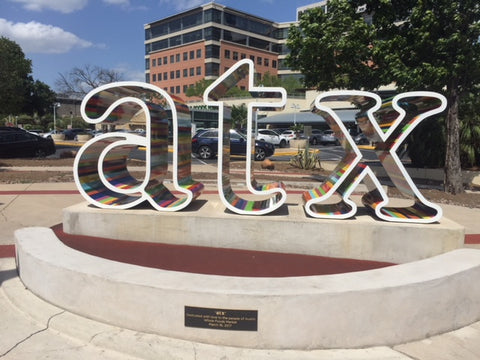 "ATX-ATX Fine Arts-ATX logo in Austin-atx sign at whole foods-atx sign austin tx-atx sign downtown-atx sculpture-atx sign near downtown-ATX"" Sign on Fifth and Lamar-atx sign artist-atx austin 2018-atx artwork-atx logo"