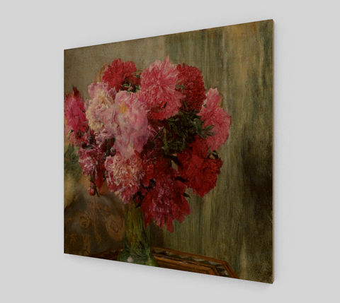 A Bunch of Peonies Painting by Lawrence Alma Tadema