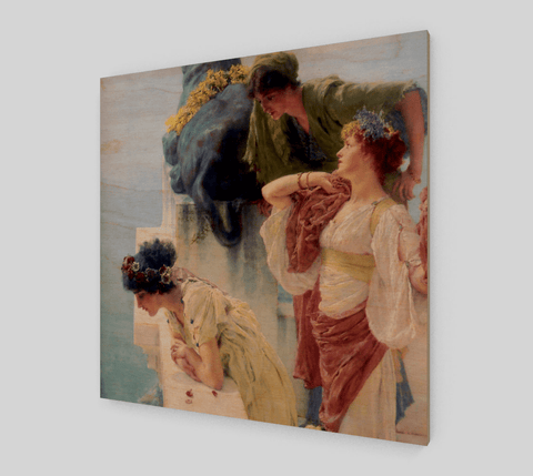 A Coign of Vantage Painting by Lawrence Alma Tadema