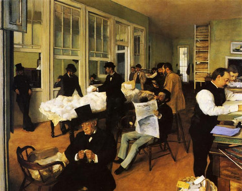 A Cotton Office In New Orleans by Edgar Degas