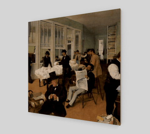 A Cotton Office in New Orleans Painting by Edgar Degas