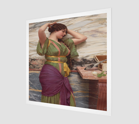 A Fair Reflection Painting by John William Godward