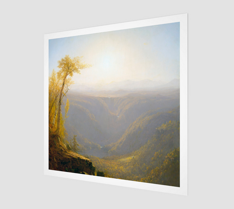 A Gorge In The Mountains Painting by Sanford Robinson Gifford