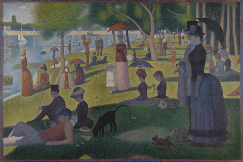 Buy famous artwork A Sunday Afternoon on the Island of La Grande Jatte by Georges Seurat - A painting of people in the park