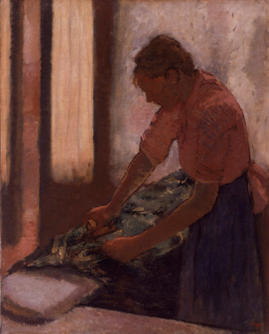 A Woman Ironing by Edgar Degas