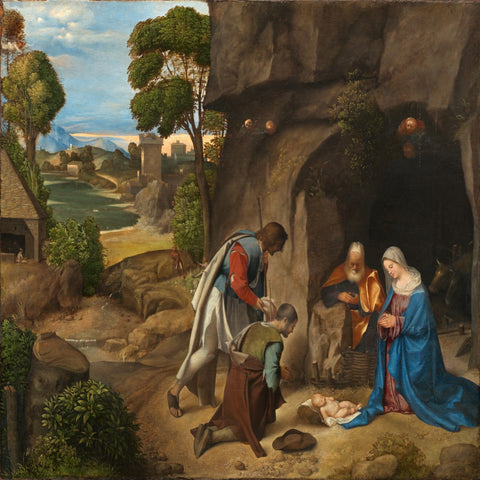 Adoration of the Shepherds by Giorgione - Famous Painting