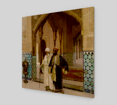 After Prayers Painting by Rudolf Ernst