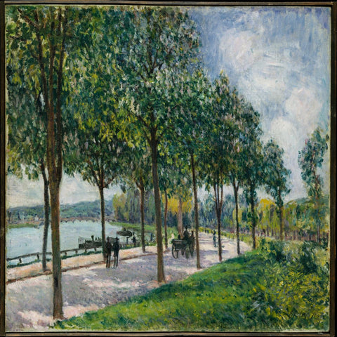 Allée of Chestnut Trees by Alfred Sisley - Famous Painting
