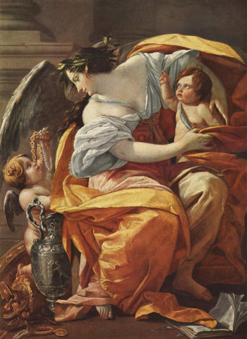 Allegory of Wealth painting by Simon Vouet [Wooden Canvas Art]