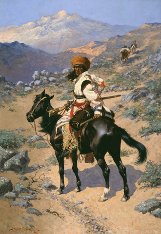 An Indian Trapper by Frederic Remington