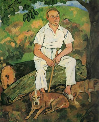 Andre Utter and His Dogs by Suzanne Valadon
