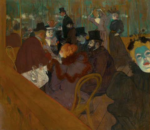 At the Moulin Rouge by Henri de Toulouse-Lautrec