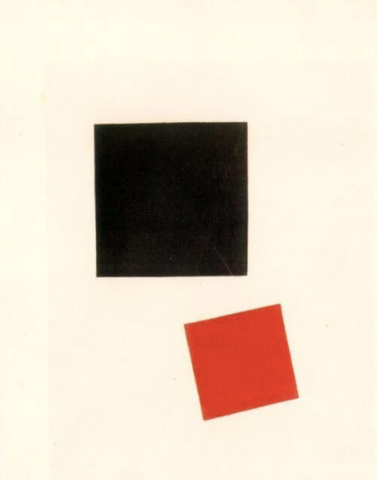 Black Square and Red Square by Kazimir Malevich