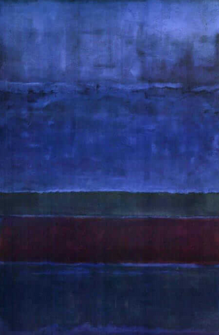 Blue Green and Brown by Mark Rothko