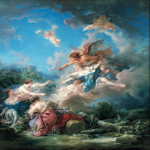 Boreas Abducting Oreithyia by François Boucher - Famous Painting