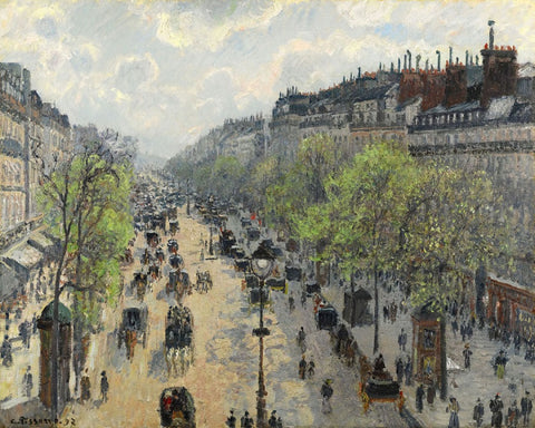 Boulevard Montmartre Spring by Camille Pissarro