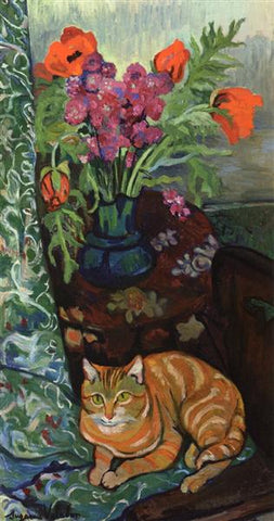Bouquet and a Cat by Suzanne Valadon