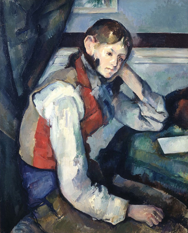 Boy in a Red Vest by Paul Cézanne [Museum Quality Fine Art Prints]