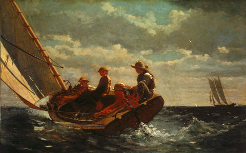 Breezing Up also known as A Fair Wind by Winslow Homer