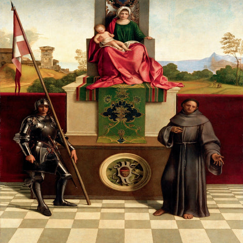 Castelfranco Madonna by Giorgione - Famous Painting