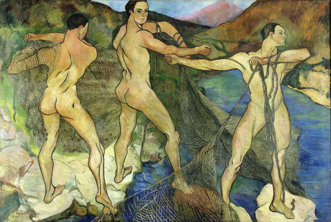 Casting the Net Painting by Suzanne Valadon