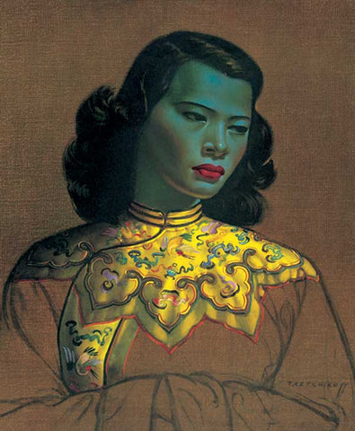 Chinese Girl is often known as The Green Lady by Vladimir Tretchikoff