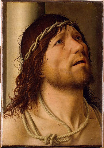 Christ at the Column Painting by Antonello da Messina