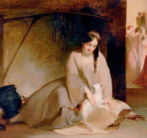 Cinderella at the Kitchen Fire by Thomas Sully