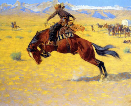 Cold Morning on the Range by Frederic Remington