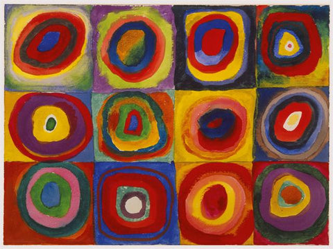 Color Study, Squares with Concentric Rings by Wassily Kandinsky