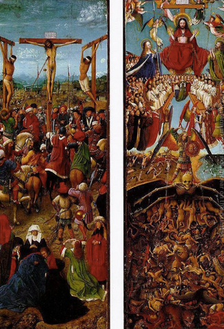 Crucifixion and Last Judgement by Jan van Eyck