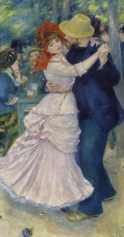 Dance at Bougival by Pierre-Auguste Renoir