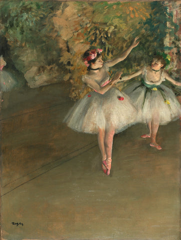 Two Dancers on Stage by Edgar Degas