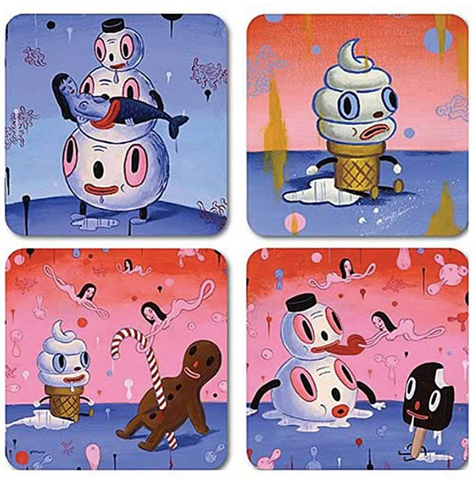 Dark Horse by Gary Baseman Coaster Set